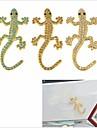 DIY 3D Stainless Steel Plating Crystal Gecko Car Decoration Sticker