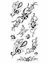 #(1) Tatouages Autocollants Series de fleur Motif ImpermeableHomme Femelle Adulte Adolescent Tatouage Temporaire Tatouages temporaires