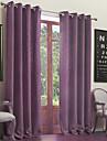 Două Panouri Tratamentul fereastră Neoclasic , Mată Sufragerie Amestec poli/bumbac Material perdele, draperii Pagina de decorare For