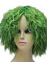 fibres resistant a la chaleur sans bouchon bon marche perruques courtes du parti moelleux verts