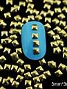 100st 3mm * 3mm gyllene fyrkantig metall nit nail art dekoration