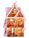 stora dröm villa DIY trä dockskåp inklusive alla möbler