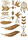 Tatueringsklistermärken - Mönster/Glitter - Smyckeserier - till Dam/Girl/Vuxen/Tonåring - Multifärgad - Papper - #(1) - styck