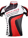 WOLFBIKE Maillot de Cyclisme Homme Manches courtes Velo Maillot Hauts/TopsSechage rapide Zip frontal Respirable Materiaux Legers Poche