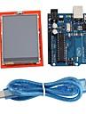 """uno r3 ombord modul + 2,4 """"TFT LCD pekskärm sköld expansionskort för Arduino"""