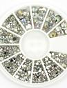 Mixed Sizes White Crystal Nail Art Rhinestones Acrylic AB Jewelry Shining Manicure Design