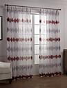moderna två paneler nyhet röda sovrummet polyester rena gardiner shades