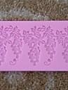 druvor formad spets fondant tårta choklad silikonform cupcake tårta dekoration verktyg, l19.7cm * w5.5cm * h0.5cm