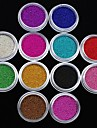 12pcs couleurs caviar Nail Art Decoration