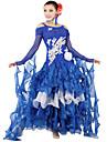 Ballroom Dance Outfits Women\'s Spandex / Tulle Blue / Pink Modern Dance / Ballroom
