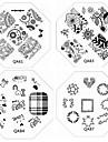 1pc nouveaux ongles estampage images plaques dentelle chic et plaque fleur de l\'amour pour les ongles diy art decorations (motif assortis)