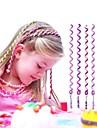 Corde cheveux boucles de 6pcs 24cm violets enfants
