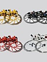 WEST BIKING®Bicycle Disc Brake MTB Front and Rear Disc Brakes+2 Disc Brakes Tablets+Screws Cycling Disc Brake