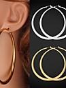 plaque U7 grande platine en or 18 carats cercle boucles d\'oreilles panier epouses de basket bijoux pour femmes de haute qualite