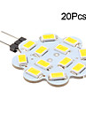 3W G4 LED a Double Broches 12 SMD 5630 270 lm Blanc Chaud / Blanc Froid DC 12 V 20 pieces