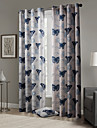 TWOPAGES® Two Panels  Blackout Gorgeous Pop Style Butterflies Pattern Curtain