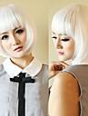 la mode courts blancs cosplay parti perruques de femmes avec plein boum