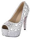 Mujer Zapatos de boda Tacones/Punta Abierta/Plataforma Tacones Boda Plata
