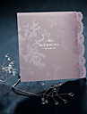 Graceful Lilic Lace Folded Wedding Invitaion (Set of 50)