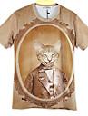 gravures de mode manches courtes t shirt des hommes McLean 3d