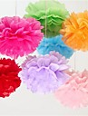 Wedding Décor 6 inch Tissue Paper Pom Poms  Party Decor Craft Paper Flowers (Set of 4)