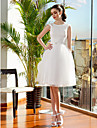 Lanting Bride® Ball Gown Petite / Plus Sizes Wedding Dress Knee-length Jewel Lace / Tulle with