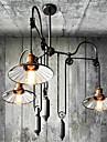 spegel nyans med pully för edison lampa vintage industri rusticity taklampa