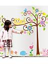 väggdekorationer väggdekaler, stil tecknad uggla tur träd pvc väggdekorationer
