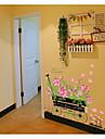 perete decalcomanii autocolante de perete, stil roz romantic plutește autocolante de perete din PVC