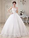Rochie de mireasa dragoste podea lungime tul rochie de mireasa cu aplicatii beading