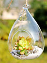"4.7 ""h enkel vattendroppe glasflaska"