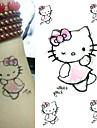 1 pc - Series animales - Noir/Rose/Multicolore - Motif - 6*10.5cm (2.36*4.13in) - Tatouages Autocollants Bebe/Enfant/Homme/Femme/Adulte/Adolescent