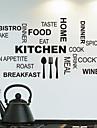 Wall Stickers Väggdekaler, kök engelska ord&citerar pvc väggdekorationer