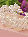 Women Alloy/Imitation Pearl Headbands With Wedding/Party Headpiece