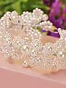 Women\'s Alloy / Imitation Pearl Headpiece-Wedding Headbands White