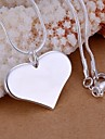 Women\'s Pendant Necklaces Sterling Silver Fashion Jewelry Wedding Party Daily Casual 1pc