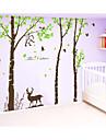 stickers muraux stickers muraux, un grand arbre avec sticker mural de singe de cerfs