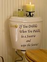 badrum klistermärke väggdekorationer väggdekaler, om du dribbla pvc toalett klistermärke