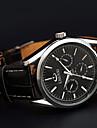 impermeables bracelet en cuir trois hommes de tableau de bord Chenxi quartz montre de sport