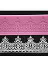 fyra c silikon spets matta dekor tårta pad texture tårta mögel färgen rosa