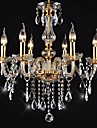 Chandeliers 6 Lights Golden Vintage in Crystal Feature