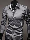 Chemises informelles ( Coton/Viscose ) Vintage/Informel/Soiree/Travail Manches longues pour Homme