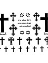 1 pc - Series de totem - Noir - Motif - Every small size:4.8cm (1.9inch) - Tatouages Autocollants Homme/Femme/Adulte/Adolescent