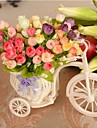 Wedding Décor  Decoration Artificial 42 Heads Spring Rose Bicycle Flowers Plastic/Silk