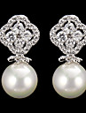 Drop Earrings Women\'s Cubic Zirconia/Pearl/Alloy Earring