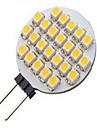 3W G4 LED-spotlights 24LED SMD 3528 500 lm Varmvit / Kallvit DC 12 V 1 st