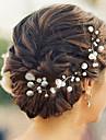 Femei Fata cu Flori Perle Diadema-Nuntă Ocazie specială Informal Ac de Păr