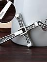 personlig gåva snabbt&rasande rostfritt stål kors hänge halsband graverad smycken