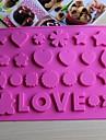 bakeware silikon kärlek bakformar för choklad (slumpmässiga färger)