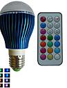 9W E26/E27 LED-globlampor A80 3PCS Högeffekts-LED RGB lm RGB Dimbar / Fjärrstyrd / Dekorativ AC 85-265 V 1 st